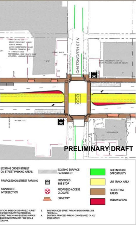proposed improvements for the Chatsworth-University intersection